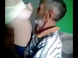 Old man got young boobs